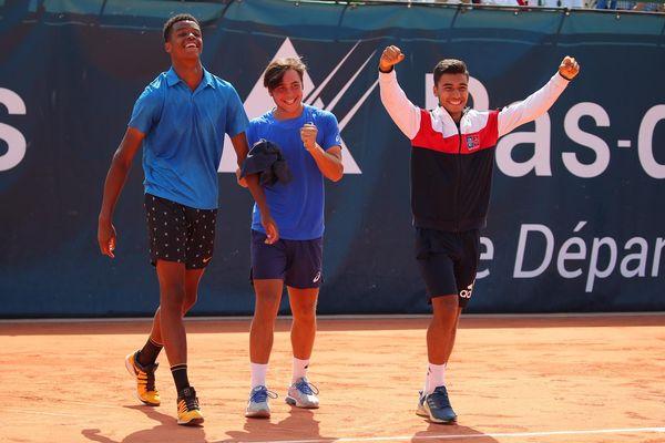 Les trois joueurs de tennis qui composaient l'équipe de France lors de la Junior Davis Cup 2019.