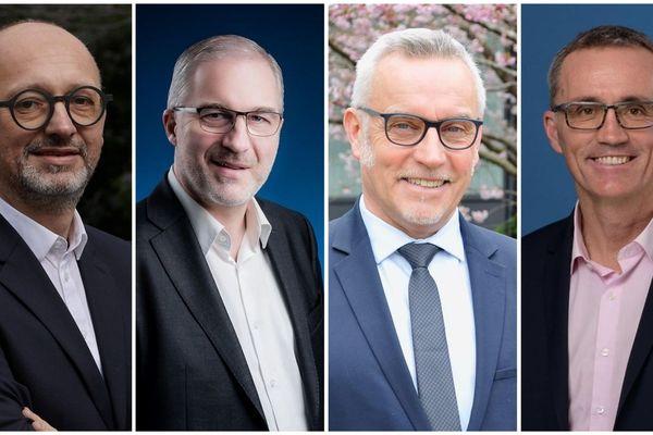 Damien Girard, Fabrice Loher, Bruno Blanchard et Laurent Tonnerre (de gauche à droite) seront face à face pour notre débat du 2e tour pour les Municipales de Lorient