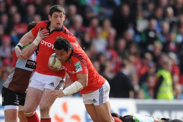 A Londres, dans le stade de Twickenham, les Irlandais du Munster ont battu les Harlequins en 1/4 de finale de la coupe d'Europe de rugby s'imposant sur le score de 18 à 12.