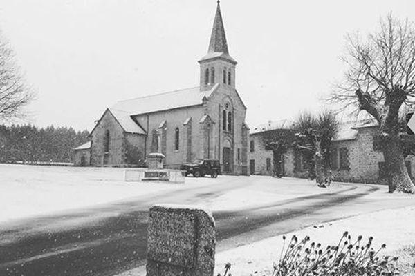 Neige à Montaboucher (Creuse), le 22.01.2019