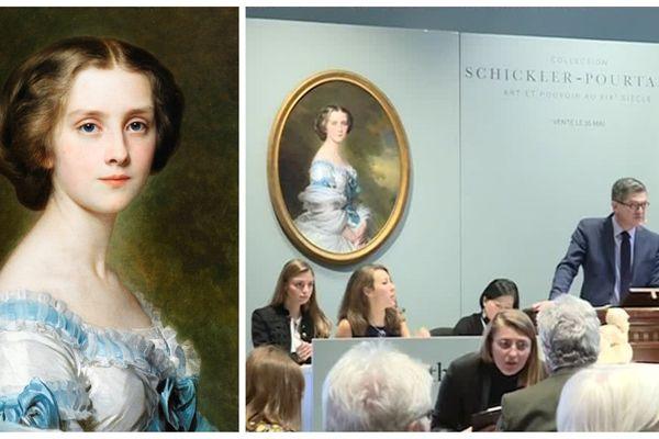 Le portrait de Mélanie Bussière a été adjugé pour 600.000 euros ce jeudi 16 mai à Paris.