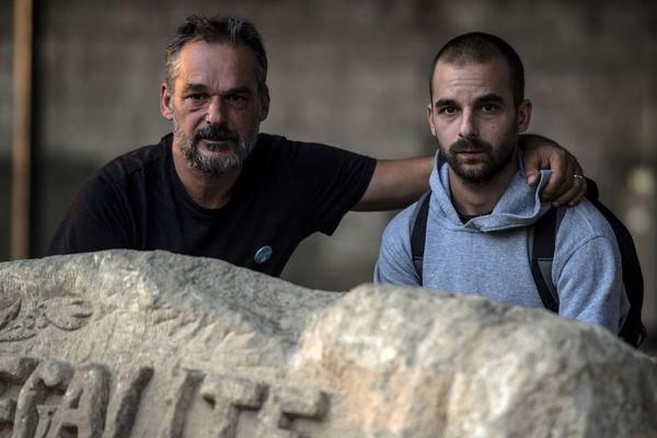 Yann Manzi et son fils Gaël, de l'association Utopia 59.