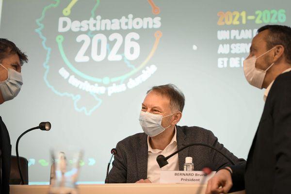 Bruno Bernard, lors du comité syndical du Sytral, le 17 décembre 2020.