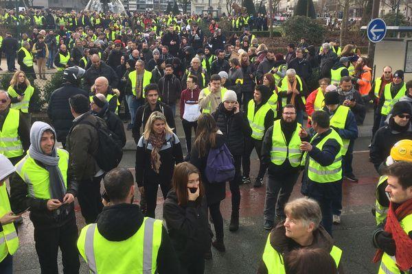 Les Gilets jaunes à Angers, le 19 janvier 2019