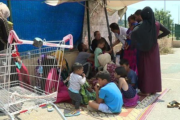 Réfugiés syriens à Villeneuve Loubet - 26 juin 2018