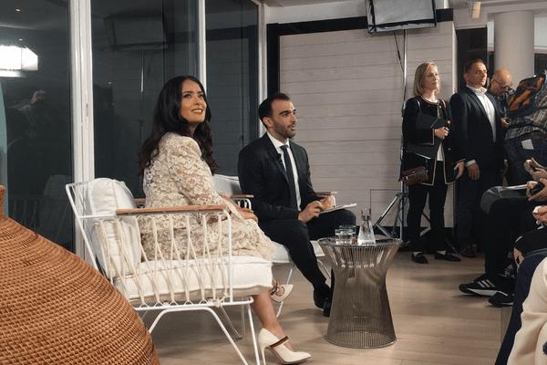 Ce dimanche, Salma Hayek était une nouvelle fois l'invitée du talk Kering Women In Motion.
