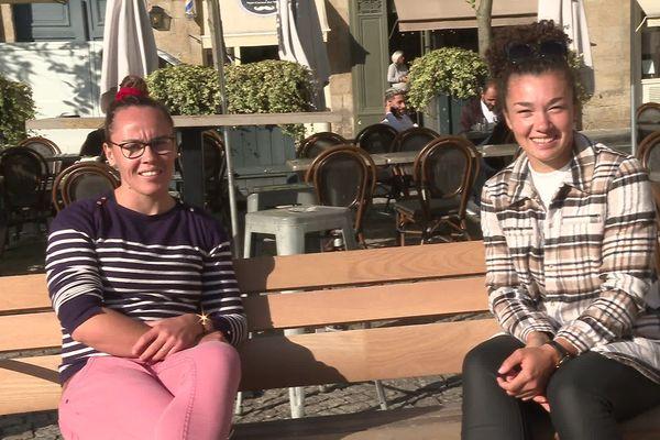 Jade Ulutule et Caroline Drouin deux joueuses du Stade rennais et consacrées aux JO de Tokyo. Elles sont revenues avec une médaille d'argent.