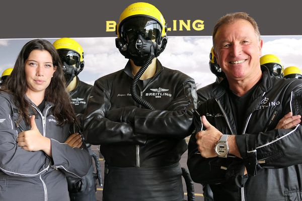 Manon, mécanicienne et Bernard, pilote (Breitling Jet Team)