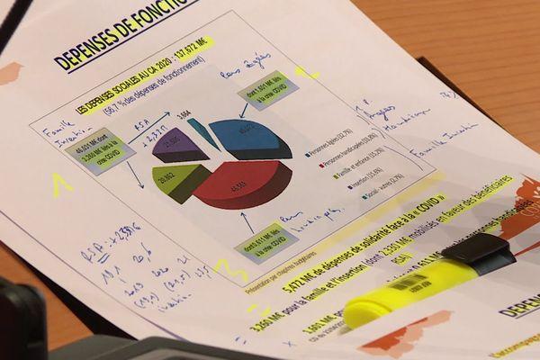 """Un rapport comptable qui """"fourmille de chiffres, de diagrammes circulaires, en bâtons, tableaux, graphes optimisant la gestion de cette mandature"""" selon Gilbert Fronty, conseiller départemental (apparenté PS) d'Allassac."""