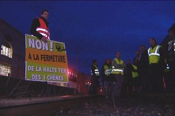 Le rassemblement pour sauver cette halte TER a eu lieu à Belfort en fin de journée