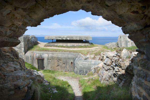 Bunker à la pointe de Penhir dans le Finistère
