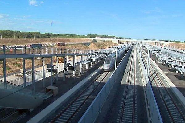 Montpellier - une rame d'essai teste la nouvelle LGV et entre en gare de Montpellier Sud de France - 5 septembre 2017.