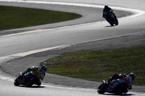 Les pilotes des 24 Heures du Mans moto, le 19 avril 2015.