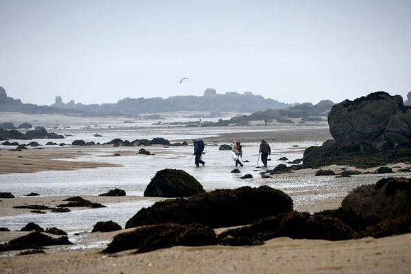 Jour de grandes marées aux Iles Chausey...