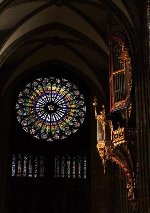 Passionné de l'architecture et de l'histoire de la cathédrale de Strasbourg, Denis Streitt aime la prendre en photo.