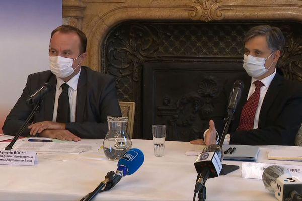 """Le préfet de l'Isère et un responsable de l'ARS en Isère ont détaillé les nouvelles mesures prises dans le cadre du passage de Grenoble en """"""""zone d'alerte maximale"""""""