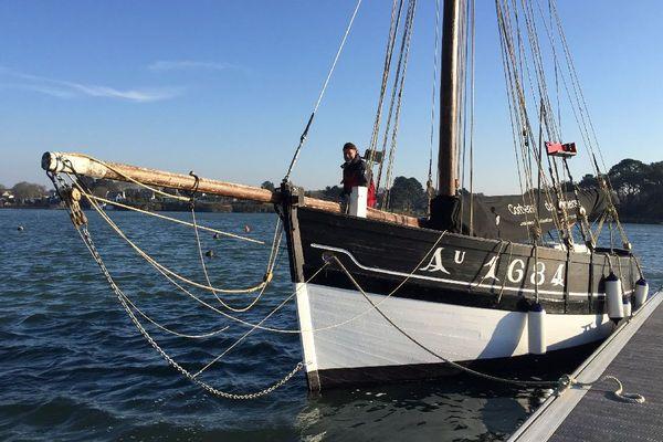 Le Corbeau des mers remis à l'eau à Baden (56)