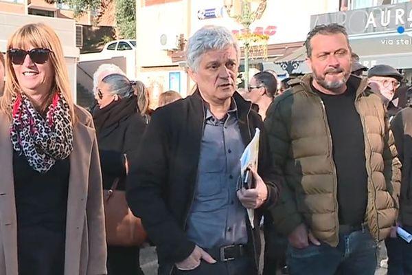 Eric Simoni, le candidat de Corsica Libera et du PNC aux municipales bastiaises, durant en février dernier
