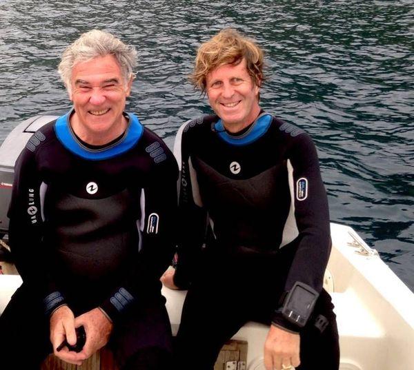 Georges Pernoud et le cameraman plongeur René Heuzey