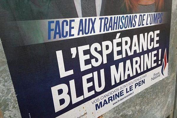 Affiche électorale du FN - mars 2015.