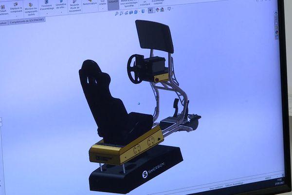 Le prototype du simulateur de pilotage