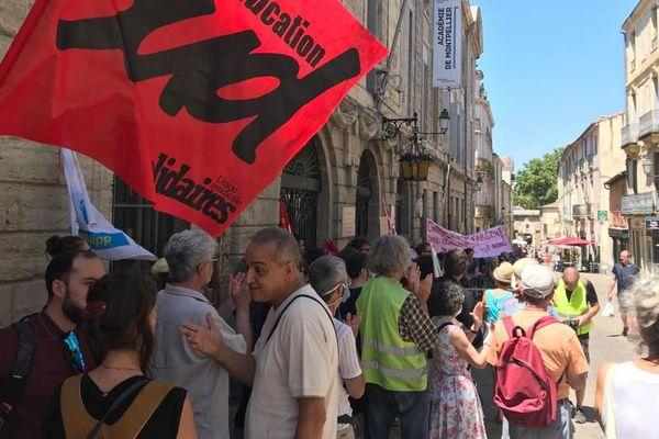 Montpellier - rassemblement des enseignants devant le rectorat - 24 juin 2020.
