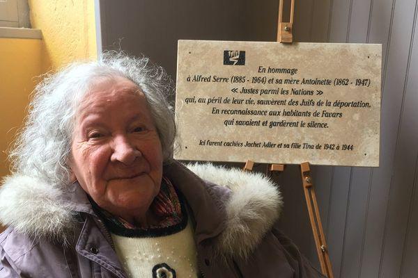 A 91 ans, Tina Adler n'a jamais oublié la famille Serre de Nespouls qui a sauvé la vie de sa mère et la sienne pendant la guerre
