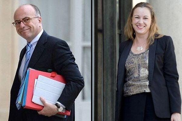 Le ministre de l'Intérieur, Bernard Cazeneuve, et la secrétaire d'Etat chargée du numérique, Axelle Lemaire, sont en visite ce vendredi dans la Manche