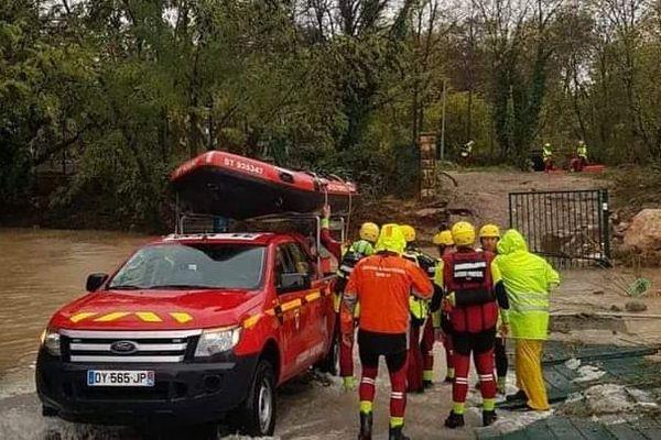 Des pompiers de la région Occitanie, mobilisés dans les Alpes-Maritimes.