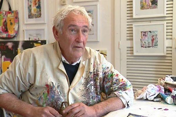 Le peintre nîmois Michel Tombereau dans son atelier - 30 décembre 2018