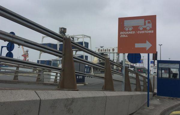 Les douanes au port de Calais