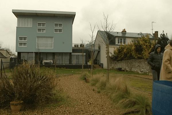 Une maison labellisée anti-crue à Saint-Pierre-des-Corps, en Indre-et-Loire, le 18 février 2016.