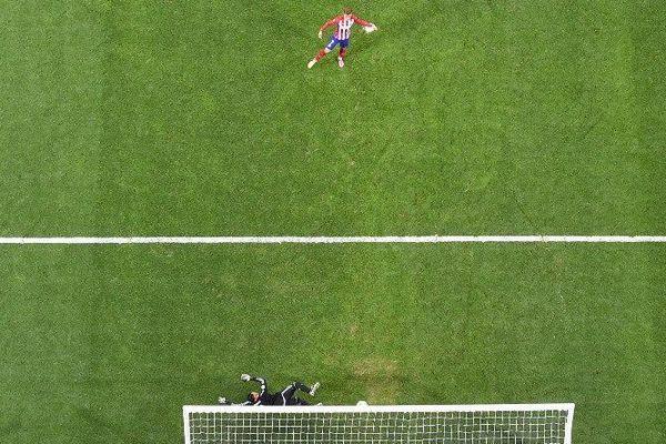 Le Mâconnais Antoine Griezmann, atout offensif N.1 de l'Atletico, n'a pas pu empêcher la défaite de son équipe face au Real Madrid en finale de la Ligue des Champions 2016 samedi 28 mai 2016.