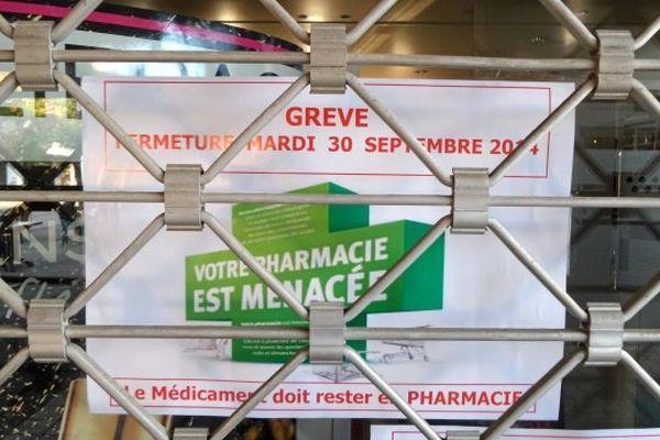 Grève des pharmacies le mardi 30 septembre