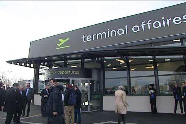 Dans ce nouveau terminal d'affaires de 550 m2, l'aéroport de Clermont-Auvergne espère attirer 20.000 passagers par an.