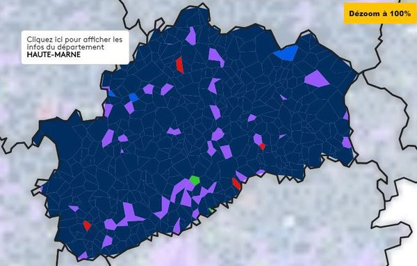 Les résultats des élections européennes 2019 en Haute-Saône carte