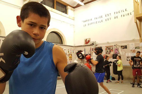 Noam, 14 ans, va participer à son premier combat amateur le 7 décembre 2019