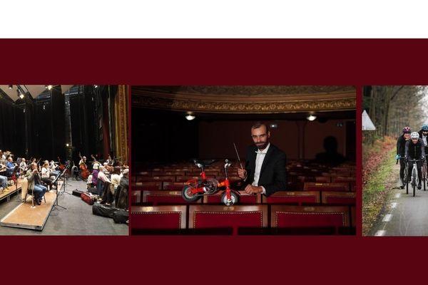 Répétitions de l'Orchestre symphonique du Centre Val de Loire - Opéra de Tours -  Le Chef d'orchestre Dylan Corlay est venu en vélo depuis Vendôme - 29 décembre 2020