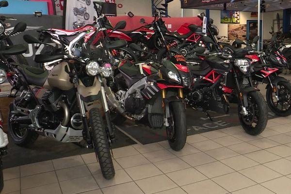 A Clermont-Ferrand, depuis le confinement, chez les concessionnaires les stocks de motos sont au plus bas.
