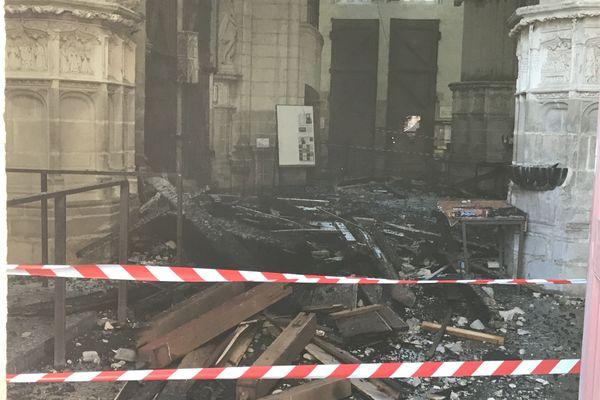 Le grand orgue de la cathédrale a été entièrement détruit