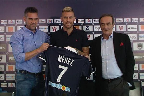 Jerémy Ménez a signé ce lundi pour évoluer chez les Girondins jusqu'en 2019.