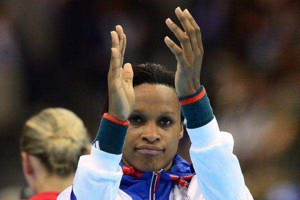 Allison Pineau, lors du tournoi Olympique aux JO de Londres, le 1er août 2012.