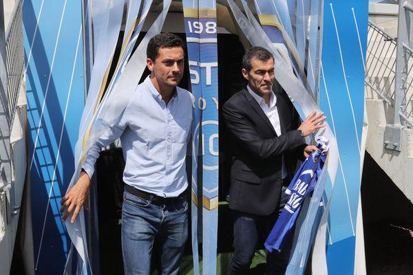 L'équipe troyenne version Rui Almeida (à droite) accueillera le Stade Brestois pour son premier match à domicile.