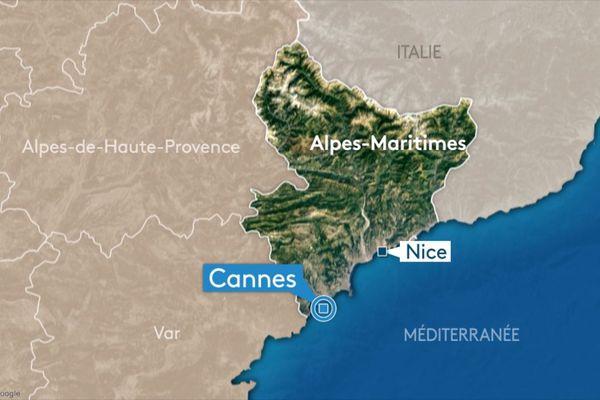 La ville de Cannes, dans les Alpes-Maritimes.