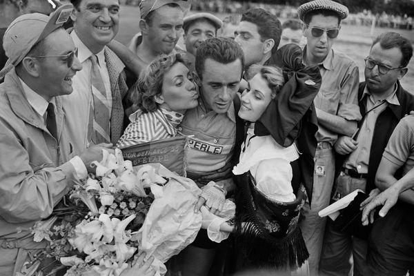 Roger Hassenforder, gagnant de la cinquième étape du Tour de France en 1955.