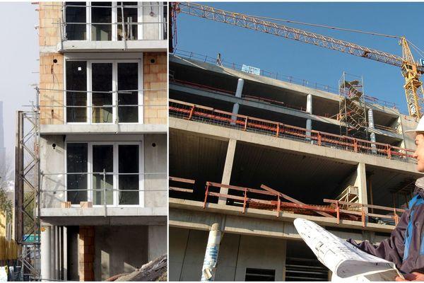 Les chantiers de construction ne cessent de croître à Strasbourg (Bas-Rhin).