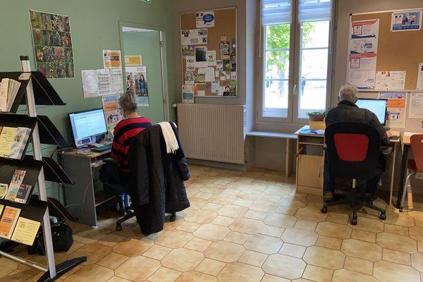 L'espace France Services du village de Cabannes (Tarn).