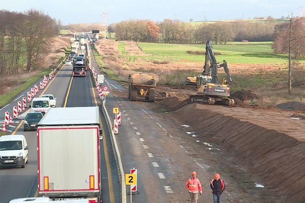 Les travaux se poursuivent en Saône-et-Loire.