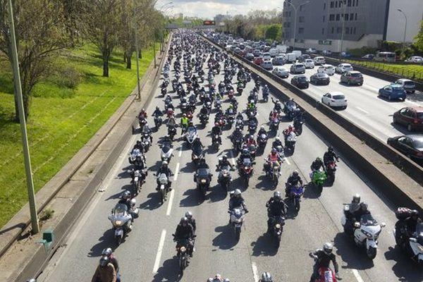 Une manifestation de motards (image d'illustration).