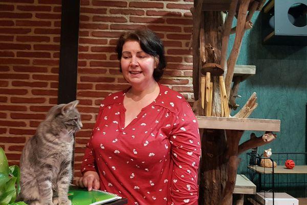 Martine Hagneré, gérante du Chat Tronome